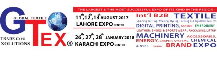 Gtex in Lahore (Pakistan) from August 11 to August 13 2017 - GMI srl