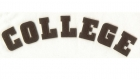 College laser cut text